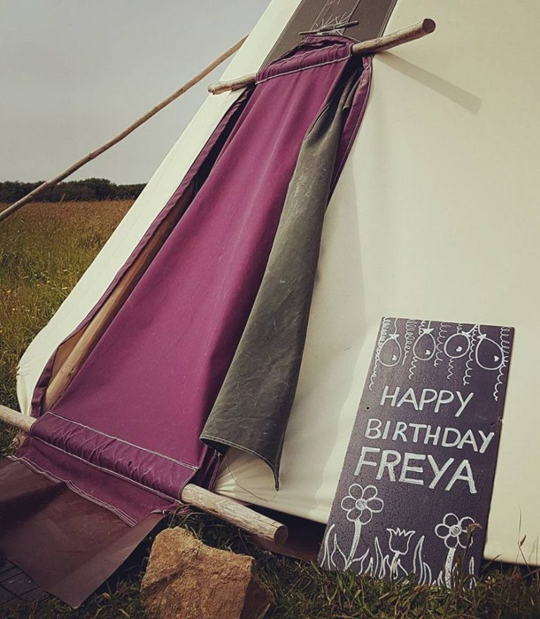 Happy Birthday Freya, Tipi life, Pembrokeshire