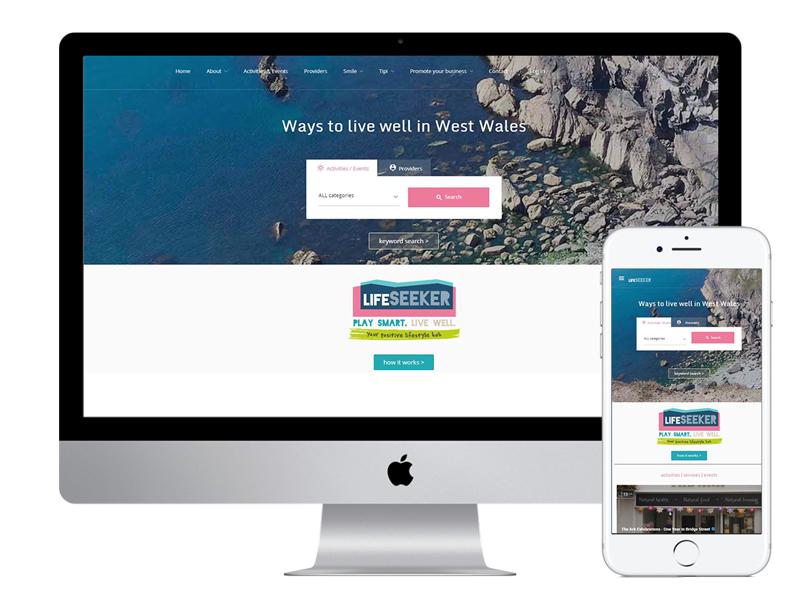 Life Seeker website - West Wales