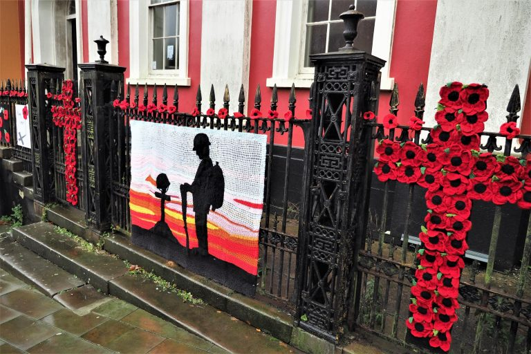 poppies Haverfordwest - Remembrance Day