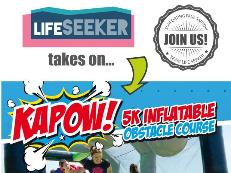 Kapow inflatable obstable course - Paul Sartori - Pembrokeshire