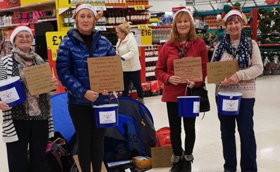 Fundraising for the Pembrokeshire's homeless